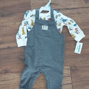 Carter's overalls and shirt size 6m